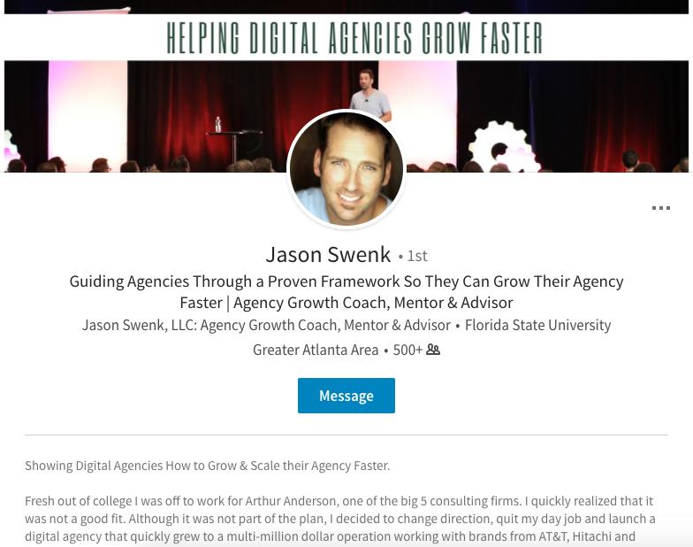 Jason linkedin profile example