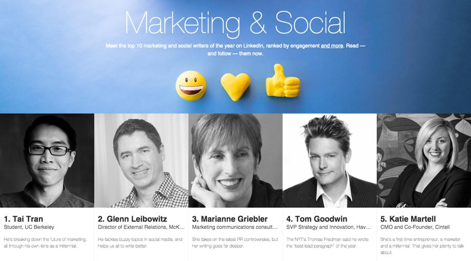 Linkedin influencers social media