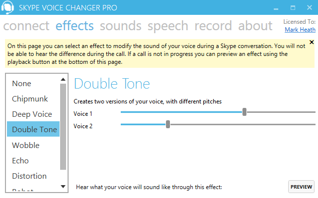 Skype Voice Changer Pro