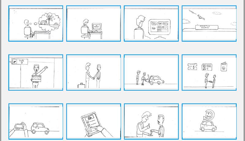sketch storyboarding